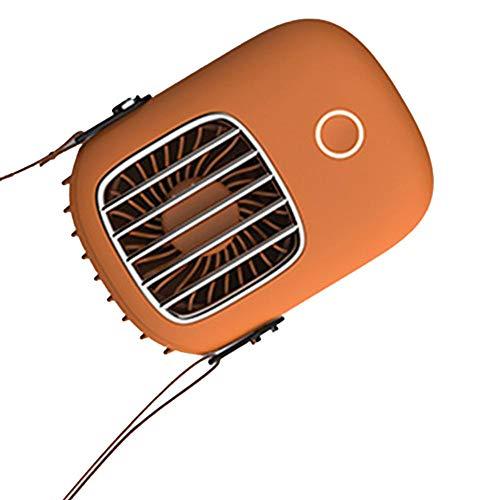 Jingyu Pequeño ventilador eléctrico USB Mini Handheld HäNgeleck LüFter para deportes al aire libre de tres de ajuste LüFter silencioso KüHlungWeiß
