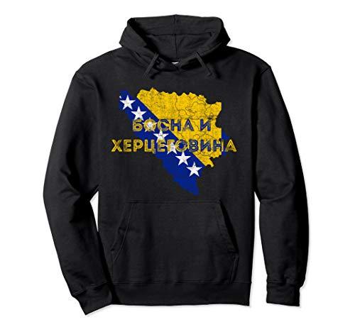 Bosnisch Karten- und Flaggensouvenir - Bosnien Herzegowina Pullover Hoodie