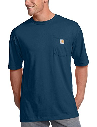 Carhartt Men's K87 Workwear Pocket Short Sleeve T-Shirt (Regular and Big & Tall Sizes), Navy, 2X-Large/Tall