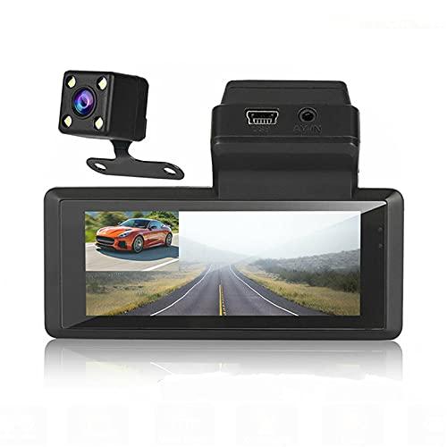 HD 1080P Dual Lens Car DVR Dash Cam Cámara Frontal Y Trasera Grabador De Video Digital Automático Cámara Dash Cam Camera G-Sensor Night Vision Car DVR