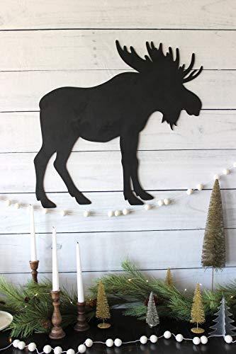 Ced454sy Elchschild Holz Elch Weihnachten Dekor Urlaub Dekor Rustikal Holzschild Kabine Dekor Home Decor