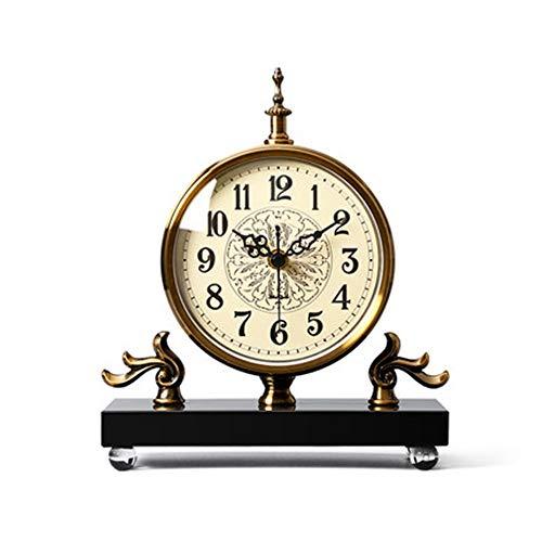 ZzheHou Reloj De Repisa Reloj de Mesa de la Sala Principal de Silencio Creativo de Escritorio de la decoración del Reloj de péndulo de Escritorio para La Oficina del Dormitorio De La Sala De Estar