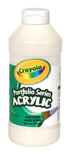 Crayola Portfolio Series 16-Ounce Acrylic Paint, Pearlescent Mixing Medium