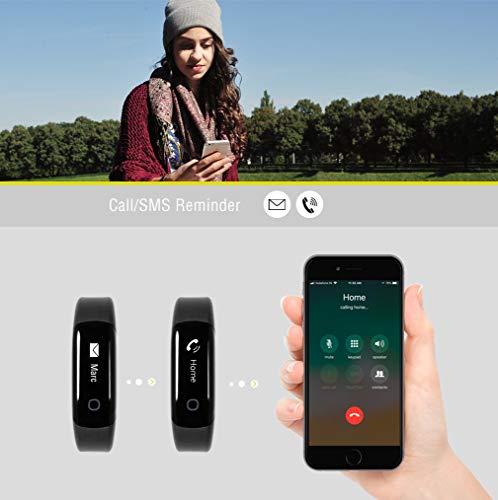 Sharon Fitnessarmband Pulsuhr, Schrittzähler und Schlaftracker, Weckfunktion, Saunafest und Wasserdicht (IP68), Smartphone kompatibel für iOS und Android - 5