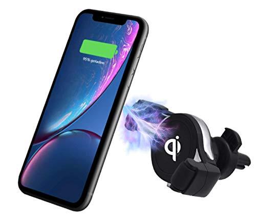 Pro User Handyhalterung WCR1 fürs Auto zum kabellosen induktiven Laden QI fähiger Handys, Elegantes Design mit einfacher Anpassung an Verschiedene Handygrössen von Apple, Samsung, Huawei, LG UVM.