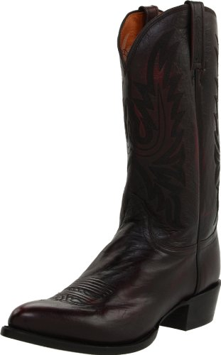 Lucchese Classics Men's M1021 Boot,Black Cherry Lonestar Calf Cowboy,12 EE (W) US