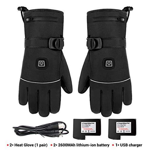 Berrd Winter Motorradhandschuhe wasserdichte Heizung Motorradhandschuhe Handschuhe mit Batterie Reiten Ski - A1