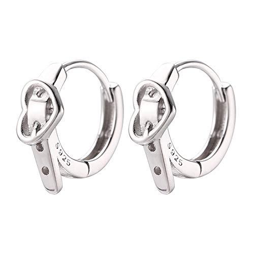 Heart Belt Small Hoop Earrings for Women Girls 925 Sterling Silver Fashion Huggie Sleeper Hoops Tiny Cartilage Cuff Wrap Clip Cute Dainty Birthday Valentine