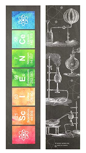 Chemistry Science Periodic Table Paper Bookmarks for Class Handouts and Gifts (32 pcs) by Nerdy Words