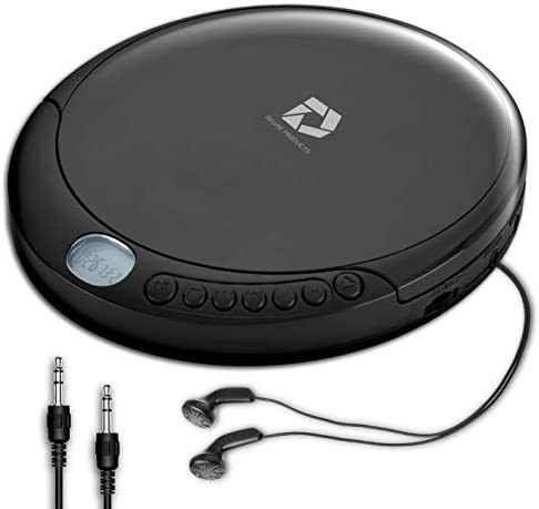Deluxe Products CD Player Portable with Micro USB Port Stereo Earbuds 60 Second Anti Skip Includes product image