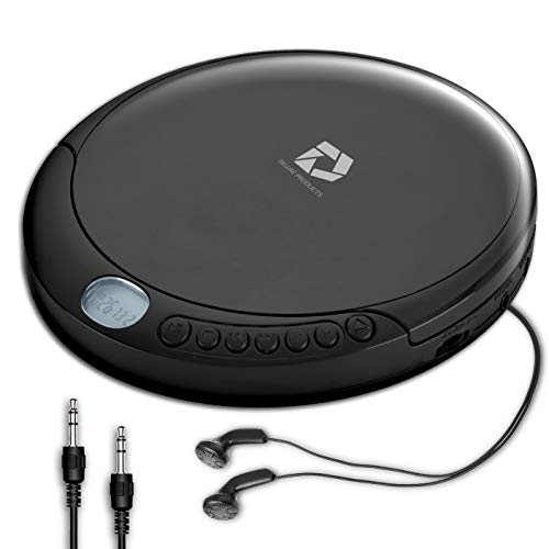 Deluxe Products CD Player Portable with Micro USB Port, Stereo Earbuds, 60 Second Anti Skip, Includes Aux in Cable for use at Home or in Car