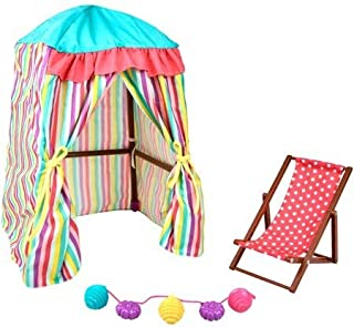 myLife Brand Products My Life As 3-Piece Beach Cabana Play Set, Great 18-Inches Doll
