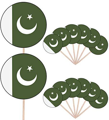 Pakistan Vlag Partij Voedsel Cake Cupcakes Picks Sticks Vlaggen Opstaan Decoraties Toppers (Pak van 14)