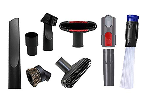 Wonlives Replacement 32mm (1 1/4 inch Vacuum attachments) and 35mm (1 3/8 inch) Vacuum Accessories Dusty Brush Kit for Standard Hose Set of 7
