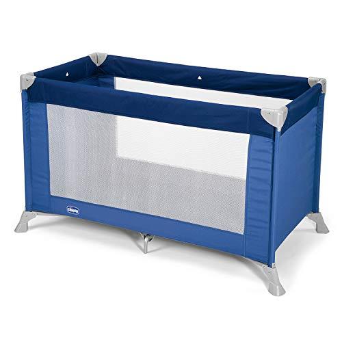 Chicco Good Night Reisebett für Babys und Kinder von Geburt bis 15 kg, Faltbares und Kompaktes Kleinkinderbett, Beistellbett, Camping-Reisebett mit Mesh-Seitenfenstern und Reisetasche
