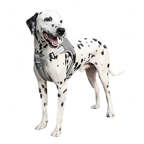FEimaX Hundegeschirr für Große Hunde Anti Zug Atmungsaktiv Brustgeschirr mit Weich Mesh für Kleine Mittlere Hunde, Reflektierend Verstellbar No Pull Welpengeschirr für Gehen und Training