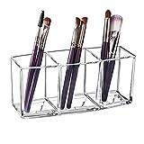 Kosmetik Organizer Glasklar Acryl Kosmetik Aufbewahrung mit 3 Fächern Schmink Aufbewahrung...