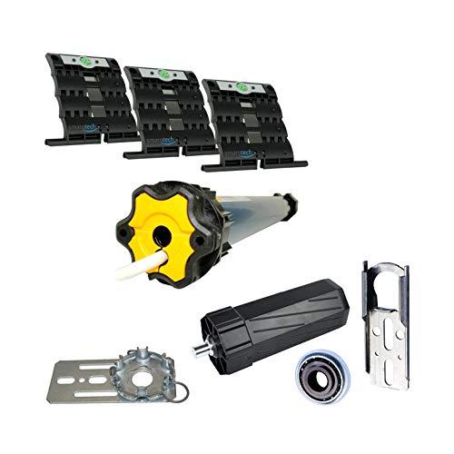 smarotech Juego de reequipamiento para modernizar correa / manivela: smarotech SW60 (para eje de 8 cantos de 60 mm) incluye motor de persiana Oximo 50 io 6/17 (hasta 2,6 m²) y sin transmisor