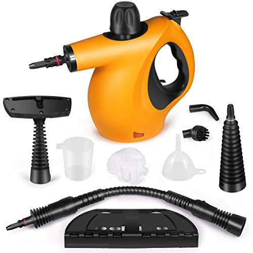 Handheld Pressurized Steam Cleaner with 9-Piece Accessory Set Multi-Surface and Chemical-Free All Natural Steam Cleaning for Home, Auto, Patio, More