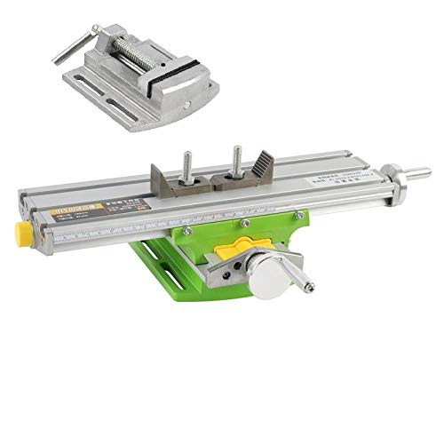 Epissche Precision multifunctional milling machine bench drill vise table X Y axis adjustment coordinate table + 2.5 parallel jaw vise