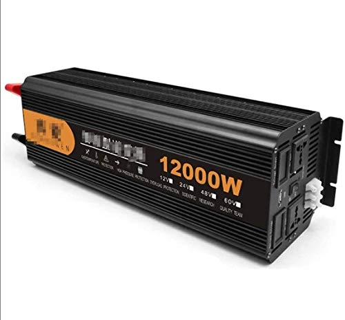 Convertidor de voltaje DC 12V 24V a AC 230V, 2200W / 3200W / 4000W / 6000W / 8000W / 6000W / 8000W / 12000W Inverter Onda sinusoidal pura, inversor de automóviles con conexiones USB y pantalla digital