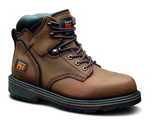 Timberland PRO Men's Pitboss 6' Steel-Toe Boot, Brown , 9.5 EE - Wide