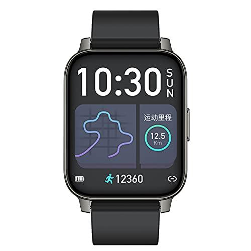 Smartwatch Reloj Inteligente Rastreadores Actividad FíSica TáCtil para Hombres Y Mujeres con PodóMetro Frecuencia CardíAca CronóMetro Ip68 Relojes Deportivos Impermeables,Black