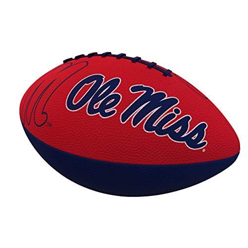 Logo Brands NCAA Mississippi Ole Miss Rebels Combo Logo Junior-Size Rubber Football, Team Color (176-93JR-1)