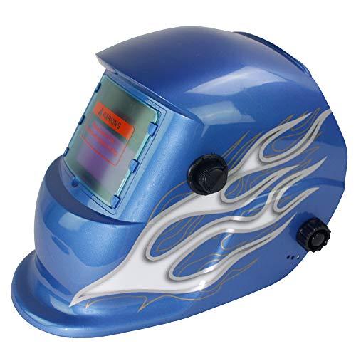 FUNTRESS自動遮光液晶溶接面ソーラー充電式TIGMIG用溶接ヘルメット研削用溶接マスク遮光範囲4/9-13ヘッドバンド調整可能(シルバーフラワー)