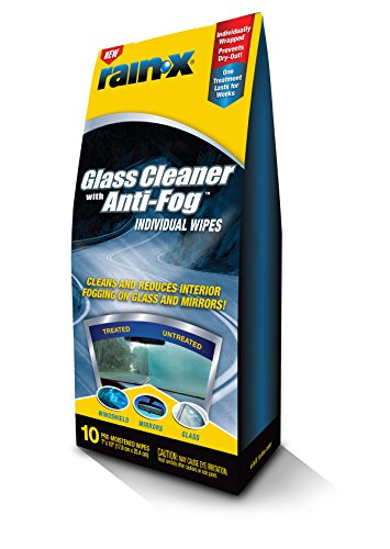 41zK0T4xbUL - Rain-X 630040-6PK Glass Cleaner with Anti-Fog Wipes - 10 Count (Pack of 6)