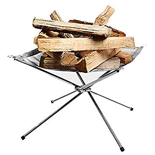 Great Deal! Rootless Portable Outdoor Firepit- Collapsible Steel Mesh Fireplace