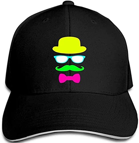 XTTGGD Gorra de béisbol Sombrero Gafas Barba Hombre Snapback Hombre Fiesta temática Gorra Snapback (FXD2750