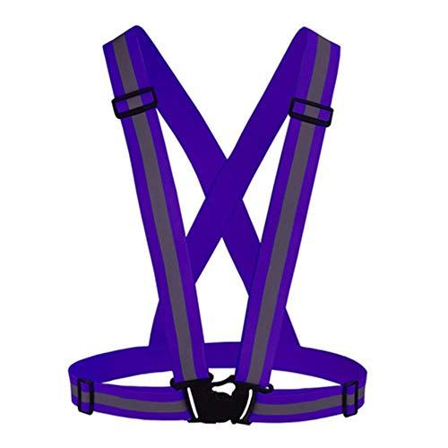 Vest Reflecterende Veiligheid Hoge Zichtbaarheid Unisex Outdoor Veiligheid Vest Reflecterende Riem Veiligheid Vest Fit Voor Hardlopen Fietsen Sport Outdoor Kleding Eén maat Paars