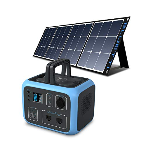 BLUETTI AC50S 500Wh Portable Power Station with Solar Panel Included, 300W/Dual AC Outlet Solar Generator Camping Battery Backup for Travel Trip RV Home Bundle w/120W Solar Charger