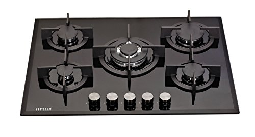 MILLAR GH7051PB 70cm Built-in 5 Burner Black Gas on Glass Hob/Cooker/Cooktop with FFD