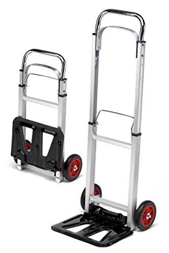 TrutzHolm® Alu Sackkarre klappbar Transportkarre Stapelkarre Handkarre Karre (90 kg - Teleskop)