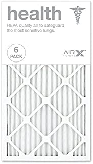 AIRx HEALTH 14x25x1 MERV 13 Pleated Air Filter - Made in the USA - Box of 6