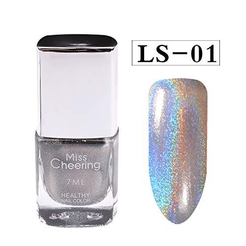 Vernis à Ongles Laser, feiXIANG Internet Diamant Assez Holographique Paillettes Gel Vernis à Ongles Art