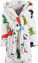 6. FunnyPaja Boys Plush Soft Fleece Hooded Bathrobe