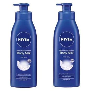 Nivea Nourishing Lotion Body Milk Richly Caring for Very Dry Skin (400 ml)- Pack of 2