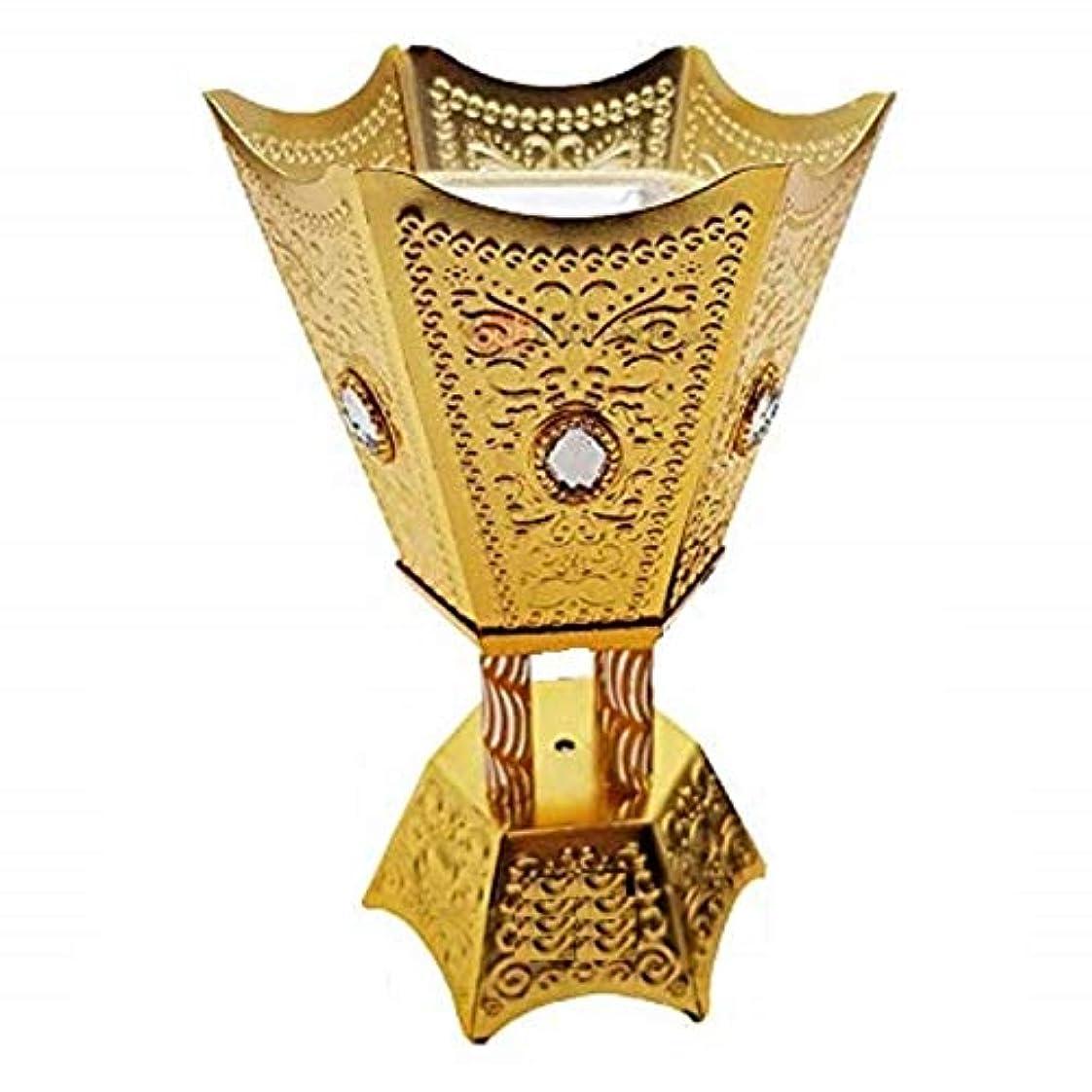 気楽な経度気になるOMG-Deal Incense Burner Charcoal Bakhoor Frankincense Resin – Luxury Hand Painted Burner - WF -001 Golden