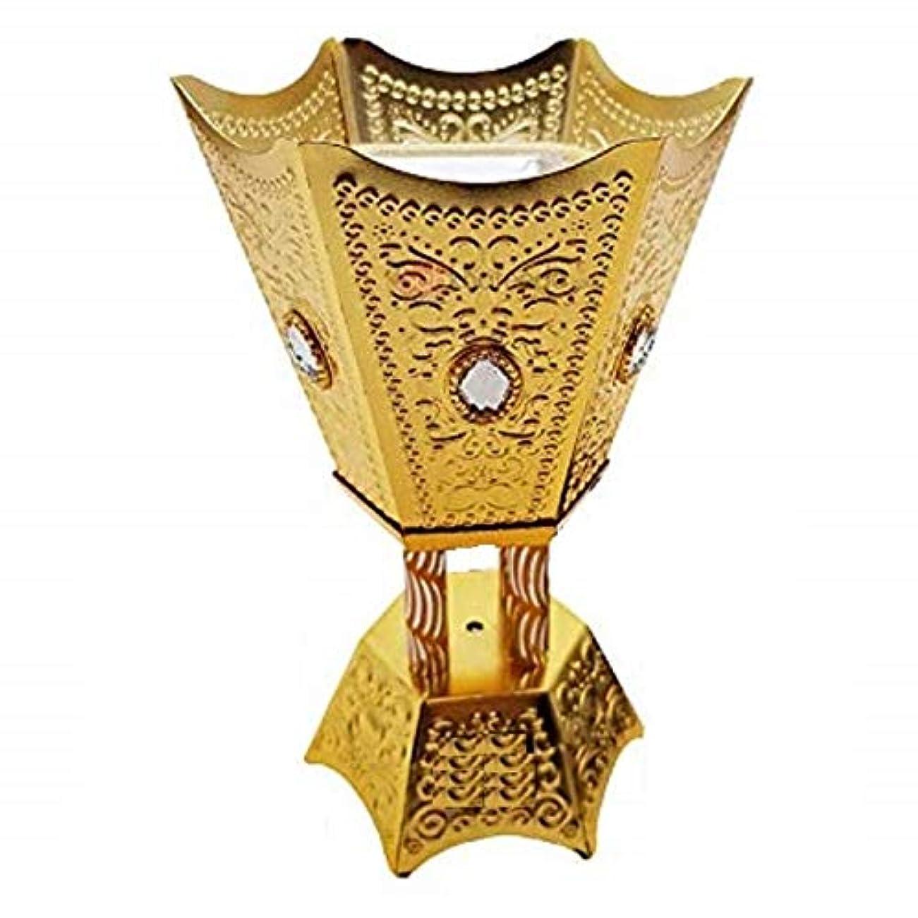 創始者必要とする平方OMG-Deal Incense Burner Charcoal Bakhoor Frankincense Resin – Luxury Hand Painted Burner - WF -001 Golden