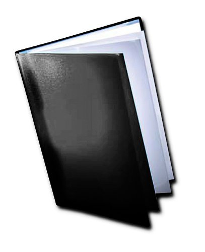 Dekko - Raccoglitore per buste trasparenti, formato A3, colore: Nero