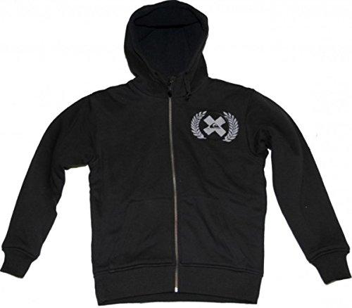 Quiksilver Skateboard Zip Hood Jackpot Black, Grösse:S