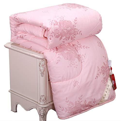 DOILE Colcha de seda de Source Factory para regalo de primavera y otoño, se vende en caja de regalo gruesa y cálida de invierno (jade, 1,8 x 2,2 m, 2 kg)