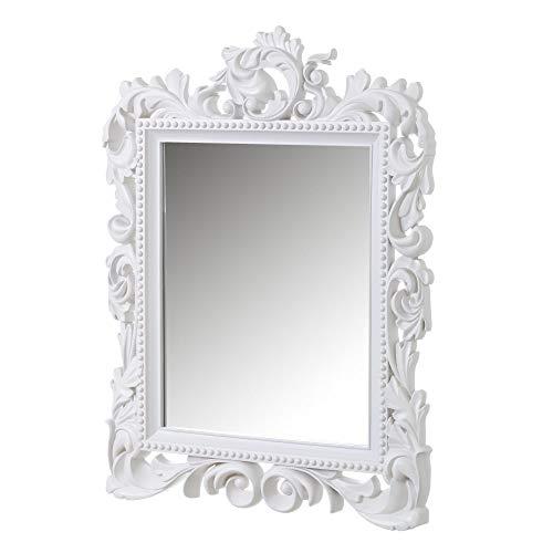 Espejo Cornucopia clásico Blanco de Polipropileno de 79x59 cm - LOLAhome