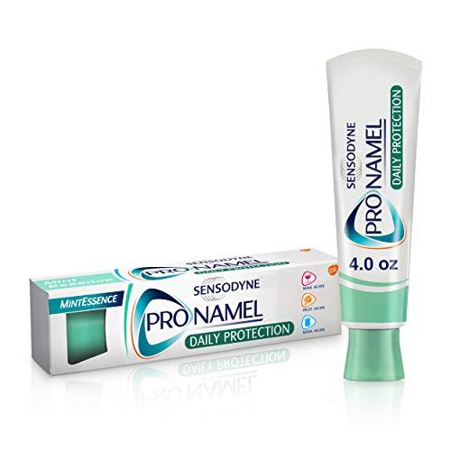 Sensodyne Pronamel Daily Protection Enamel Toothpaste for Sensitive Teeth, to Reharden and Strengthen Enamel, Mint Essence - 4 Ounces