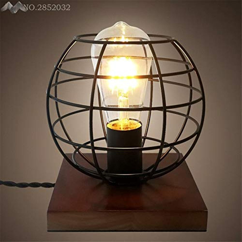 5151BuyWorld Lampe American Retro Massivholz Eisen Top Qualitt Cage Schreibtisch Licht Holz Kreativ Alte Tischlampe Für Cafe Nacht Bar Innenbeleuchtung Dekoration {schwarz}