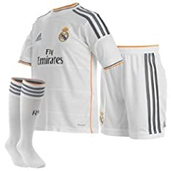 Adidas Camiseta Real Madrid 1ª Equipación 2013/2014 Mini Kit Niño