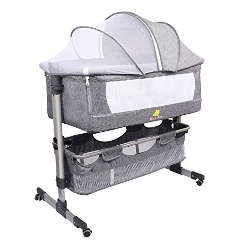 2 in 1 Bassinet for Baby Girl Boy,Portable Bedside Sleeper...